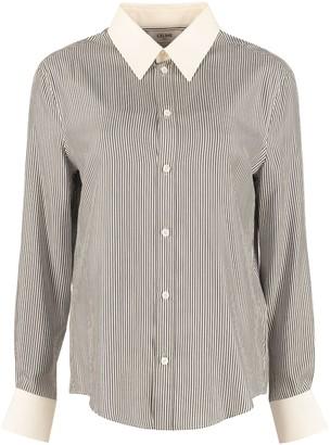Celine Striped Silk Shirt