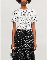 Ted Baker Dotty swarovski-embellished print cotton-jersey T-shirt