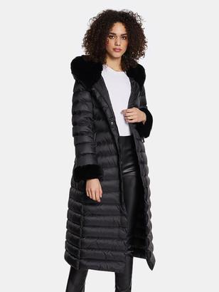 Dawn Levy Lexie Gem Fitted Puffer Maxi Coat