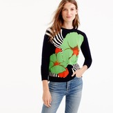 J.Crew Italian cashmere crewneck sweater in Ratti® striped floral