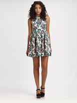 Wren Gathered Floral-Print Dress