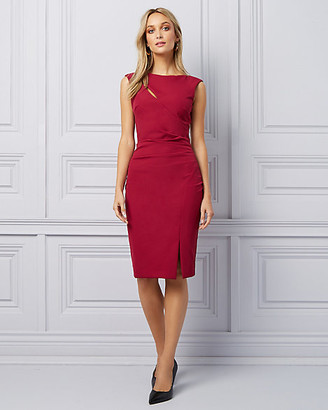 Le Château Double Weave Cutout Slit Cocktail Dress