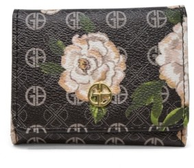 Giani Bernini Floral Signature Trifold Wallet, Created for Macy's