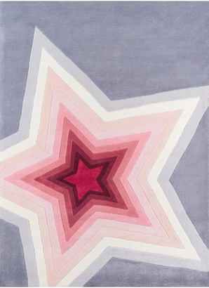 Momeni Lil Mo Hipster Polyester, Hand-Tufted Rug, Superstar, 4'x6'