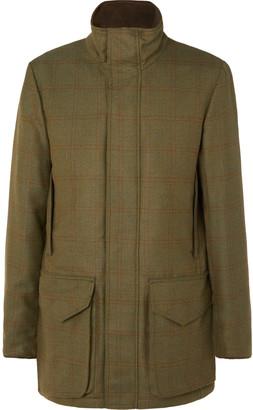 Purdey - Checked Herringbone Wool-blend Tweed Coat - Green