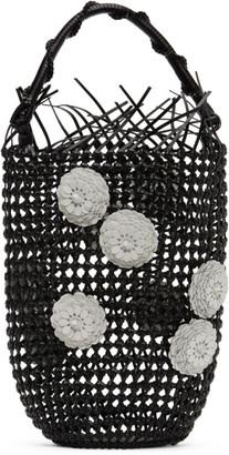 Loewe Black Mesh Flower Bucket Tote