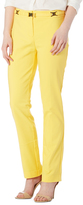 Focus 2000 Yellow Belted Straight-Leg Pants