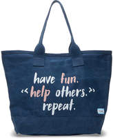 Toms Navy Have Fun Help Others Repeat All Day Tote Bag