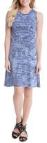 Karen Kane Women's Tie-Dye Stripe A-Line Dress