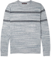Michael Kors - Jaspe Slim-fit Striped Knitted Cotton Sweater