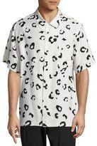 Alexander Wang Oversized Leopard Print Silk Shirt