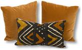 Kim Salmela Set of 3 Maya Pillow Bundle - Brown/Black
