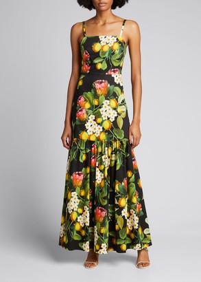 Borgo de Nor Cordelia Lemon Print Maxi Dress