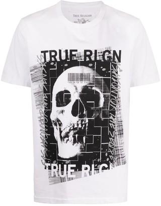 True Religion skull print T-shirt