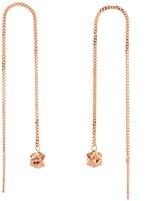 Origami Jewellery Magic Ball Rose Gold Chain Earrings