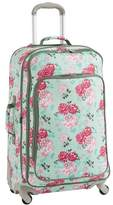 Pottery Barn Teen Jet Set Garden Party Floral Checked Spinner