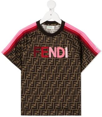 Fendi Kids logo-appliqued T-shirt