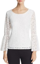 Calvin Klein Lace Bell Sleeve Top