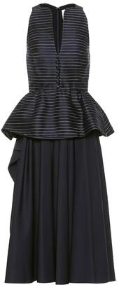 Rosie Assoulin Cotton-blend midi dress