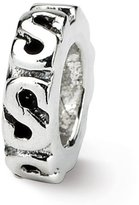 Reflections Sterling Silver Swirl Spacer Bead (4mm Diameter Hole)