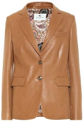 Etro Exclusive to Mytheresa Leather blazer