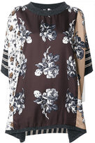 Antonio Marras floral embroidered top - women - Silk/Virgin Wool - S