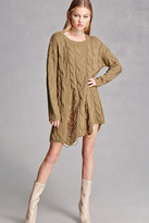 Forever 21 FOREVER 21+ Cable Knit Sweater Dress