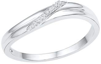 1/20 CT. T.W. Round Diamond Prong Set Fashion Ring in Sterling Silver (7.5)