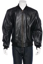 Alpha Industries Leather Bomber Jacket