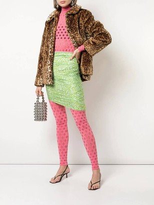 MAISIE WILEN Pink Perforated Leggings