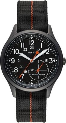 Timex Men's IQ+ MOVE Elastic Fabric Strap Watch, 41mm