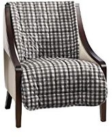 Sure Fit Armless Deluxe Pet Cover Chair Slipcover, Buffalo Plaid/Black