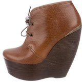 Lanvin Round-Toe Wedges w/ Tags