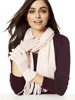 New York & Co. 2-Piece Embellished Scarf & Gloves Set