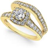 Macy's Diamond Frame Bridal Set (1-1/4 ct. t.w.) in 14k Yellow or White Gold