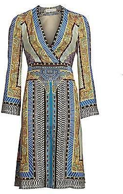 Etro Women's Geometric Paisley Bell-Sleeve Dress