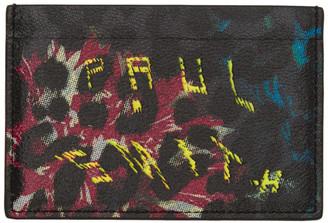 Paul Smith Black Leopard Mix Card Holder