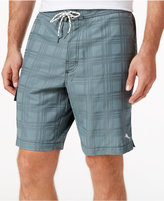 Tommy Bahama Men's Baja Plaid Jacquard Cargo Board Shorts