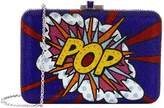 Judith Leiber Pop Art Crystal Clutch, White, One Size