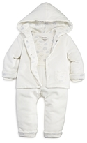 Absorba Unisex Plush Jacket, Bodysuit & Pants Set - Baby