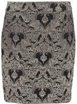 Glamorous Mini skirt gold jacquard