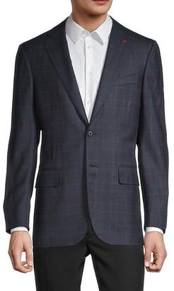 Isaia Standard-Fit Plaid Wool Blazer