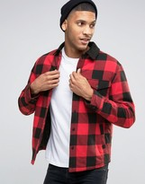 Esprit Quilted Check Jacket with Contrast Collar