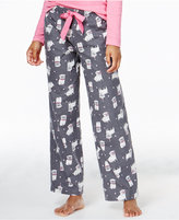 Jenni by Jennifer Moore Party Pug Flannel Pajama Pants, Only at Macy's