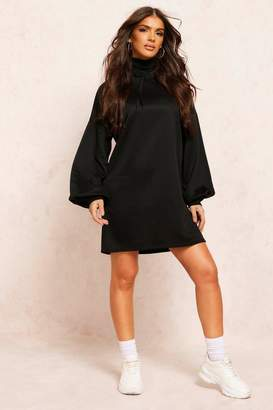 boohoo Recycled Sweat Oversized Hoodie Dress