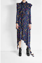 Vetements Printed Dress with Asymmetric Hemline