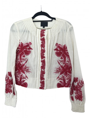Intermix Ecru Linen Jacket for Women