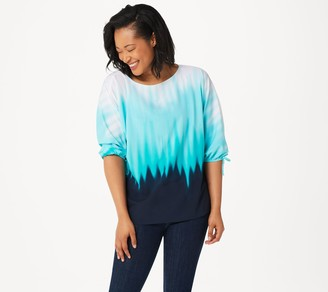 Belle By Kim Gravel Belle by Kim Gravel Ombre Print Tie Sleeve Top
