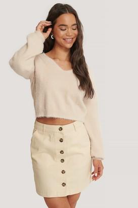 NA-KD Buttoned Denim Skirt