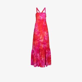 HONORINE Athena linen maxi dress